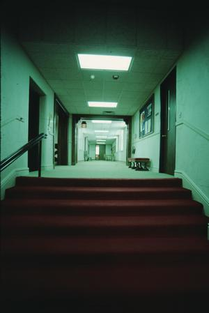 Primary view of object titled '[Polk St Methodist Church, (renovated hallway)]'.