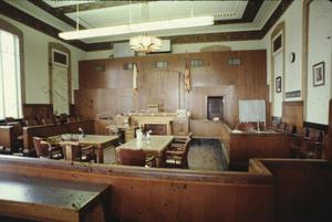 Primary view of object titled '[Jefferson County Courthouse, (court room)]'.