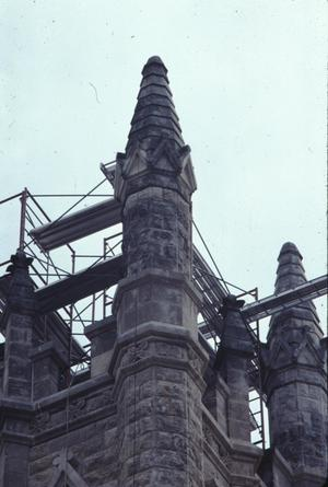 Primary view of object titled '[St. Mary's Cathedral, (detail of tower)]'.