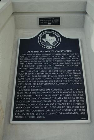 Primary view of object titled '[Jefferson County Courthouse, (marker)]'.