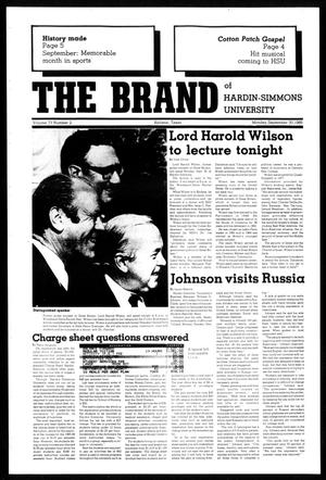 Primary view of object titled 'The Brand of Hardin-Simmons University (Abilene, Tex.), Vol. 73, No. 2, Ed. 1, Monday, September 30, 1985'.