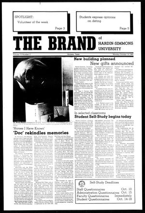 Primary view of object titled 'The Brand of Hardin-Simmons University (Abilene, Tex.), Vol. 73, No. 3, Ed. 1, Monday, October 14, 1985'.