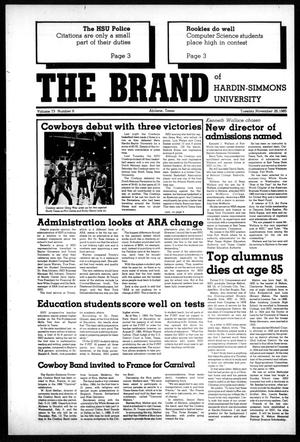 Primary view of object titled 'The Brand of Hardin-Simmons University (Abilene, Tex.), Vol. 73, No. 6, Ed. 1, Tuesday, November 26, 1985'.