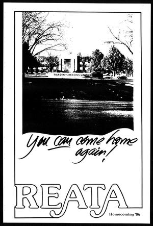 Primary view of object titled 'Reata (Abilene, Tex.), Homecoming 1986'.