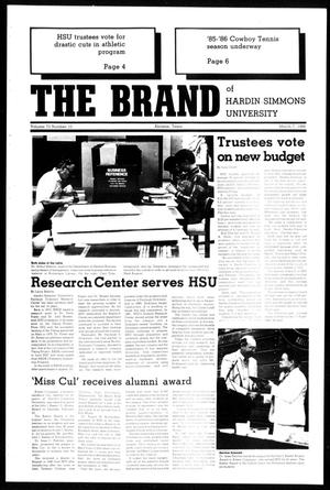 Primary view of object titled 'The Brand of Hardin-Simmons University (Abilene, Tex.), Vol. 73, No. 10, Ed. 1, Friday, March 7, 1986'.