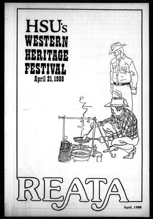 Primary view of object titled 'Reata (Abilene, Tex.), April 1988'.