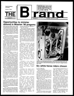 Primary view of object titled 'The Brand (Abilene, Tex.), Vol. 77, No. 2, Ed. 1, Thursday, October 26, 1989'.