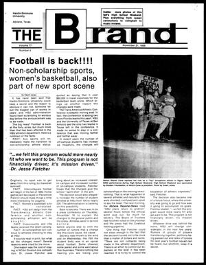 Primary view of object titled 'The Brand (Abilene, Tex.), Vol. 77, No. 4, Ed. 1, Tuesday, November 21, 1989'.