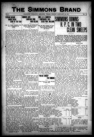 The Simmons Brand (Abilene, Tex.), Vol. 1, No. 13, Ed. 1, Friday, January 19, 1917