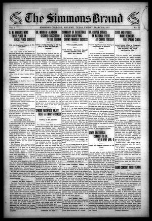The Simmons Brand (Abilene, Tex.), Vol. 1, No. 21, Ed. 1, Friday, March 9, 1917