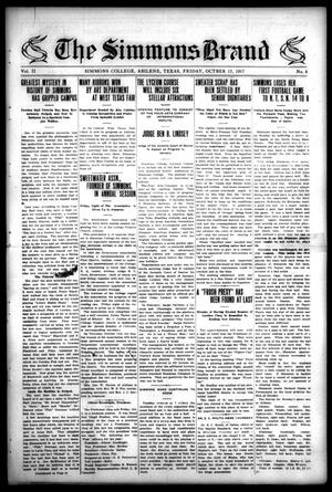 The Simmons Brand (Abilene, Tex.), Vol. 2, No. 4, Ed. 1, Friday, October 12, 1917