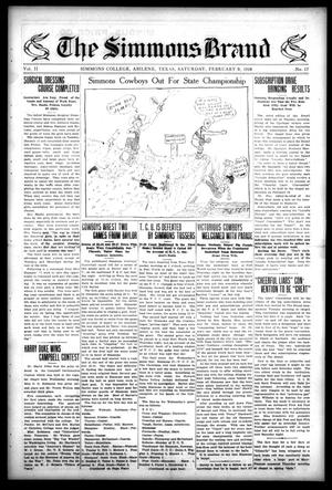 The Simmons Brand (Abilene, Tex.), Vol. 2, No. 17, Ed. 1, Saturday, February 9, 1918