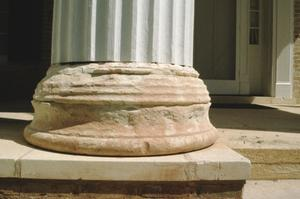 Scott House, (close up of column base), Hill Country Heritage Region