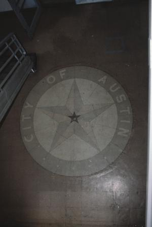 Primary view of object titled '[Seaholm Power Plant, (City of Austin Logo in floor)]'.