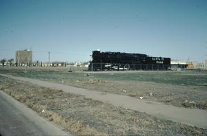 Primary view of object titled '[Santa Fe Depot, (Madame Queen (train))]'.