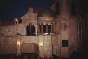 Primary view of object titled '[Paramount Theater, (cupola next to stage wall next to stage)]'.