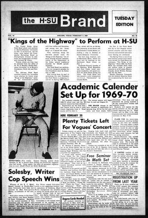 The H-SU Brand (Abilene, Tex.), Vol. 54, No. 32, Ed. 1, Tuesday, February 4, 1969