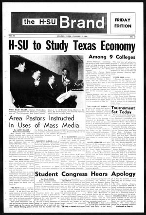 Primary view of object titled 'The H-SU Brand (Abilene, Tex.), Vol. 54, No. 33, Ed. 1, Friday, February 7, 1969'.