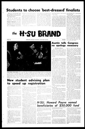 Primary view of object titled 'The H-SU Brand (Abilene, Tex.), Vol. 58, No. 26, Ed. 1, Tuesday, January 30, 1973'.