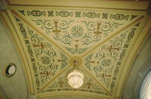 Primary view of object titled '[1918 State Office Building, (interior ceiling detail)]'.
