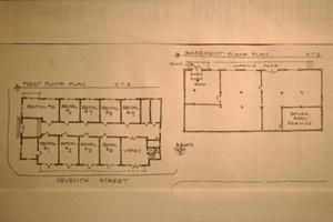 Primary view of object titled '[Royal Arch Masonic Lodge, (basement and 1st floor plans)]'.