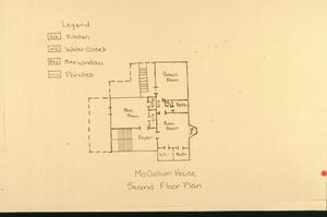 Primary view of object titled '[McCollum House, (floor plan)]'.
