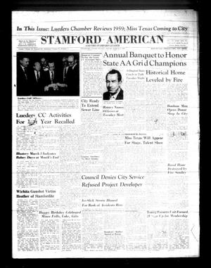 Primary view of object titled 'Stamford American and The Stamford Leader (Stamford, Tex.), Vol. 37, No. 1, Ed. 1 Thursday, March 3, 1960'.