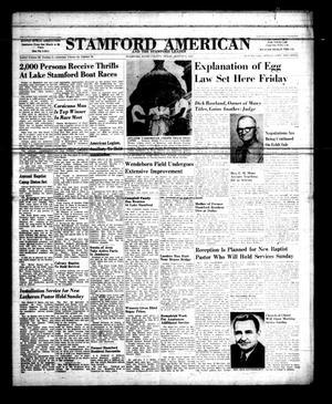 Primary view of object titled 'Stamford American and The Stamford Leader (Stamford, Tex.), Vol. 34, No. 22, Ed. 1 Thursday, August 1, 1957'.