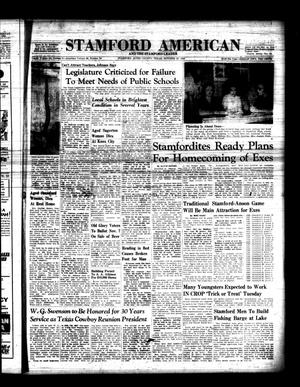Primary view of object titled 'Stamford American and The Stamford Leader (Stamford, Tex.), Vol. 36, No. 34, Ed. 1 Thursday, October 22, 1959'.