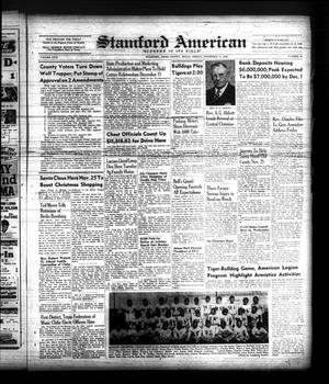 Primary view of object titled 'Stamford American (Stamford, Tex.), Vol. 26, No. 35, Ed. 1 Friday, November 11, 1949'.