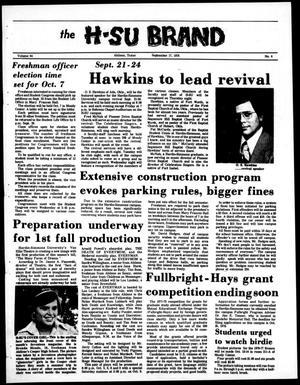 The H-SU Brand (Abilene, Tex.), Vol. 64, No. 4, Ed. 1, Friday, September 17, 1976