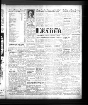 Primary view of object titled 'The Stamford Leader (Stamford, Tex.), Vol. 50, No. 2, Ed. 1 Tuesday, September 20, 1949'.