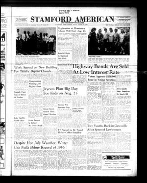 Primary view of object titled 'Stamford American and The Stamford Leader (Stamford, Tex.), Vol. 37, No. 25, Ed. 1 Thursday, August 18, 1960'.
