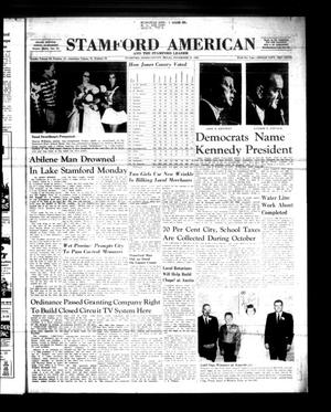 Primary view of object titled 'Stamford American and The Stamford Leader (Stamford, Tex.), Vol. 37, No. 37, Ed. 1 Thursday, November 10, 1960'.
