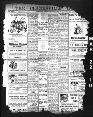 Primary view of object titled 'The Clarksville Times. (Clarksville, Tex.), Vol. 38, No. [23], Ed. 1 Tuesday, March 22, 1910'.