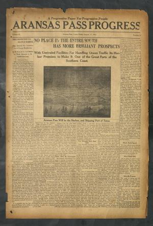 Primary view of object titled 'Aransas Pass Progress (Aransas Pass, Tex.), Vol. 3, No. 17, Ed. 1 Friday, August 11, 1911'.