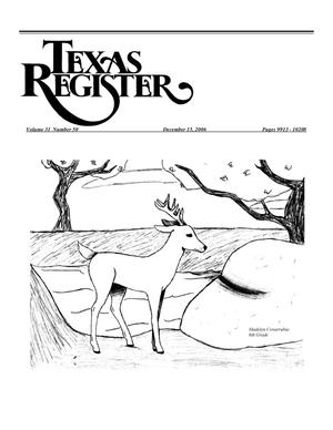 Primary view of object titled 'Texas Register, Volume 31, Number 50, Pages 9913-10208, December 15, 2006'.