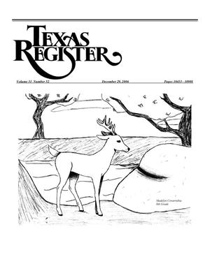 Primary view of object titled 'Texas Register, Volume 31, Number 52, Pages 10433-10988, December 29, 2006'.