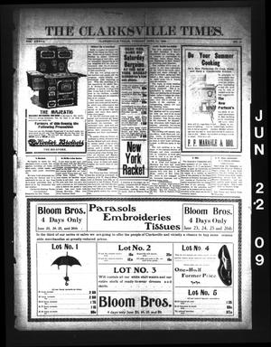 Primary view of object titled 'The Clarksville Times. (Clarksville, Tex.), Vol. 37, No. 50, Ed. 1 Tuesday, June 22, 1909'.