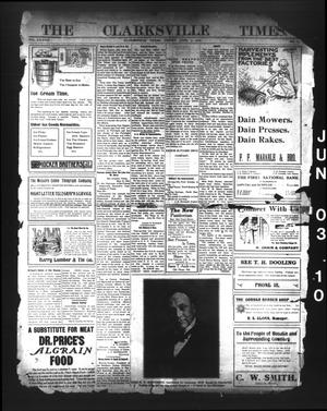 Primary view of object titled 'The Clarksville Times. (Clarksville, Tex.), Vol. 38, No. 44, Ed. 1 Friday, June 3, 1910'.