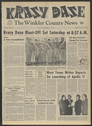 Primary view of object titled 'The Winkler County News (Kermit, Tex.), Vol. 33, No. 35, Ed. 1 Thursday, July 24, 1969'.