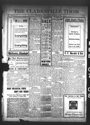 Primary view of object titled 'The Clarksville Times. (Clarksville, Tex.), Vol. 36, No. 11, Ed. 1 Friday, February 7, 1908'.