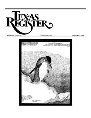 Primary view of object titled 'Texas Register, Volume 32, Number 48, Pages 8619-8980, November 30, 2007'.