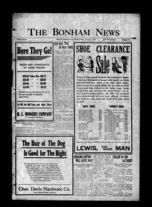 Primary view of object titled 'The Bonham News (Bonham, Tex.), Vol. 49, No. 75, Ed. 1 Friday, January 8, 1915'.