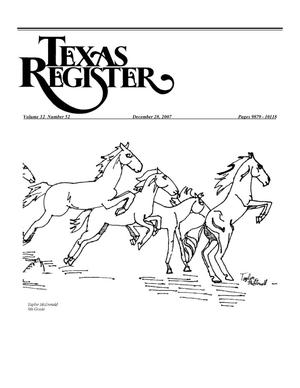 Primary view of object titled 'Texas Register, Volume 32, Number 52, Pages 9879-10118, December 28, 2007'.