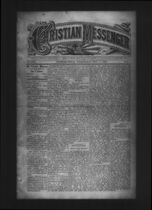 Primary view of object titled 'Christian Messenger (Bonham, Tex.), Vol. 3, No. 44, Ed. 1 Wednesday, November 7, 1877'.