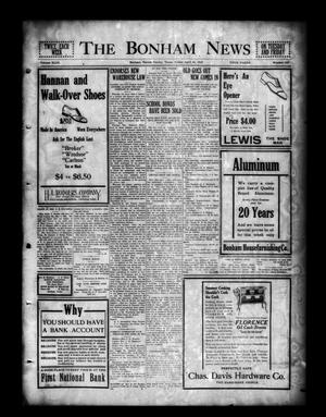 Primary view of object titled 'The Bonham News (Bonham, Tex.), Vol. 49, No. 103, Ed. 1 Friday, April 16, 1915'.