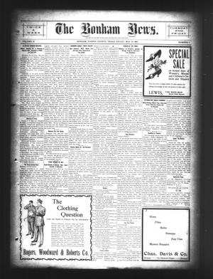 Primary view of object titled 'The Bonham News. (Bonham, Tex.), Vol. 42, No. 8, Ed. 1 Friday, May 24, 1907'.