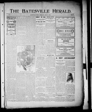 Primary view of object titled 'The Batesville Herald. (Batesville, Tex.), Vol. 7, No. 41, Ed. 1 Thursday, October 17, 1907'.