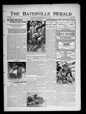 Primary view of object titled 'The Batesville Herald. (Batesville, Tex.), Vol. 6, No. 17, Ed. 1 Thursday, May 3, 1906'.